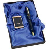 Набор: ручка-зажигалка, пепельница «Акра»