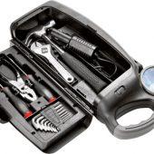 Набор инструментов автомобилиста с фонарем, 14 предметов, черный, арт. 000222403