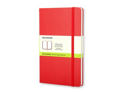 Записная книжка Moleskine Classic (нелинованный) в твердой обложке, Large (13х21см), красный, арт. 001549903