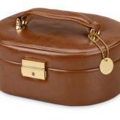 Шкатулка для драгоценностей с дорожным футляром, коричневый, арт. 000385103