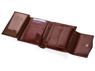Портмоне с отделениями для кредитных карт и монет, коричневый, арт. 000516603