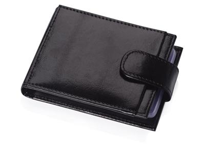 Футляр для 40 визиток, кредитных или дисконтных карт, черный, арт. 000516203