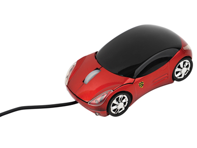 Мышка оптическая в форме автомобиля с подсветкой фар, работающая от USB, арт. 000577803