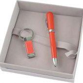 Набор Cacharel: брелок с флеш-картой USB 2.0 на 4 Гб, шариковая ручка, арт. 000467103