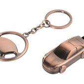 Набор: брелок «Руль», флеш-карта USB 2.0 на 4 Gb в форме автомобиля, арт. 000976103