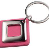 Брелок, розовый/серебристый