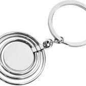 Брелок с 3 кольцами и диском, вращающимися вокруг одной оси, серебристый, арт. 000223103