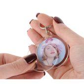 Брелок с возможностью вставки фотографии или рекламного мини-постера, прозрачный