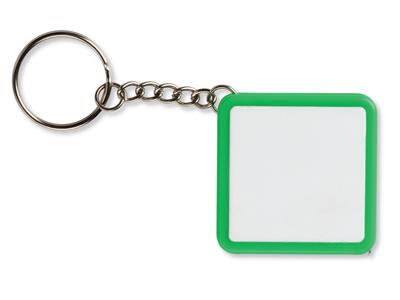 Брелок-рулетка, 1 м., белый/зеленый, арт. 000994303