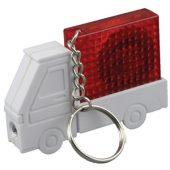 """Брелок-рулетка """"Автомобиль"""" с фонариком, 1 м., белый/красный, арт. 000973203"""