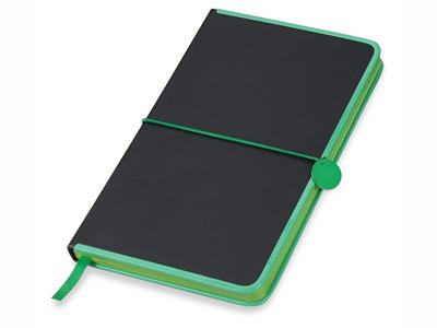 """Блокнот А5 """"Color Rim"""", черный/зеленый. Lettertone, арт. 001322403"""