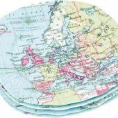 Набор из 4-х тарелок «Карта мира»