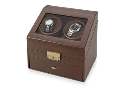 Шкатулка кожаная для часов с автоподзаводом «Респект», арт. 000985903