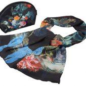 Набор «Цветы»: косметичка и шарф