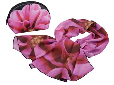 Набор «Георгин»: косметичка и шарф, арт. 000998403