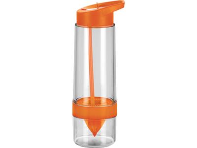 Бутылка для воды с функцией соковыжималки, оранжевая