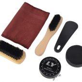 Набор аксессуаров для чистки обуви в футляре, 6 предметов, арт. 000671303
