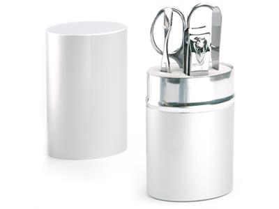 Маникюрный набор в алюминиевом тубусе, 4 предмета