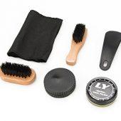 Набор аксессуаров для чистки обуви в футляре, 8 предметов