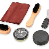 Набор аксессуаров для чистки обуви в футляре, 8 предметов, арт. 000224703