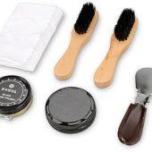 Набор аксессуаров для чистки обуви в футляре, 8 предметов, арт. 000224503