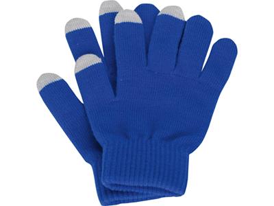 Перчатки для сенсорного экрана, синий, размер S/M ( S/M )