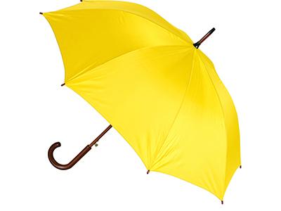 Зонт-трость полуавтоматический с деревянной ручкой