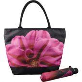 Набор «Георгин»: зонт складной полуавтоматический и сумка для шопинга