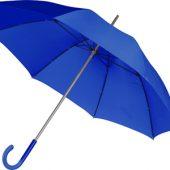 Зонт-трость механический с полупрозрачной ручкой, синий, арт. 001281403