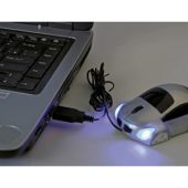Мышка оптическая в форме автомобиля с подсветкой фар, работающая от USB