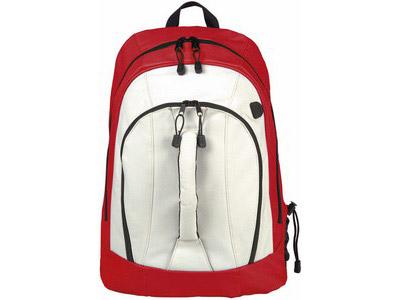 """Рюкзак """"Arizona"""" c ручкой и выходом для наушников, красный/белый"""