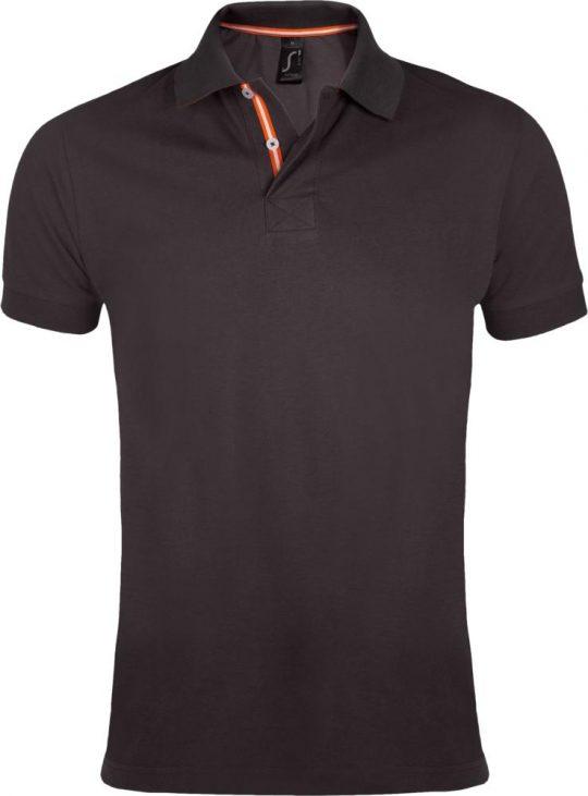 Рубашка поло мужская PATRIOT 200, темно-серая, размер XL