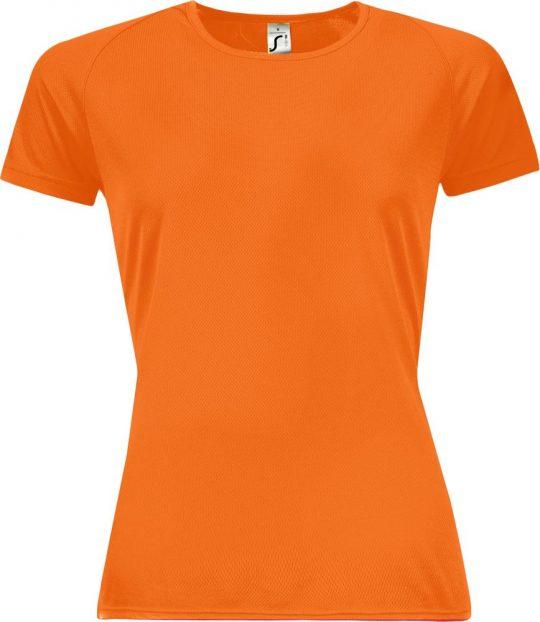 Футболка женская SPORTY WOMEN 140 оранжевый неон, размер XXL