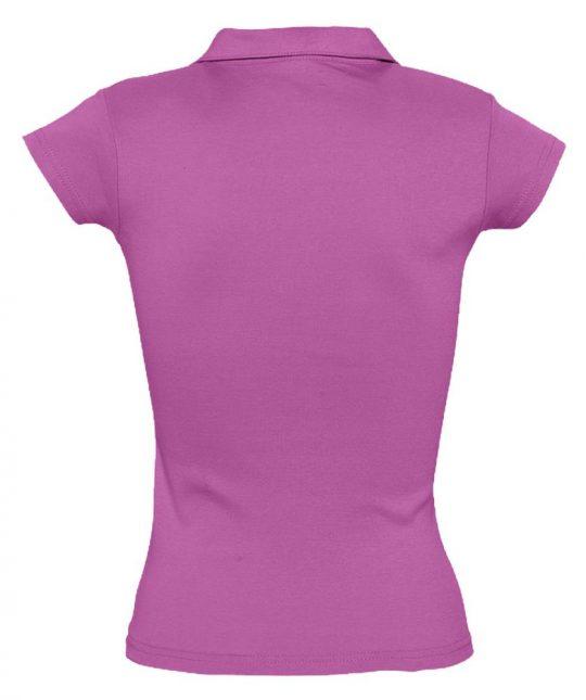 Рубашка поло женская без пуговиц PRETTY 220 ярко-розовая, размер L