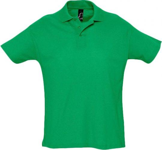 Рубашка поло мужская SUMMER 170 ярко-зеленая, размер XXL