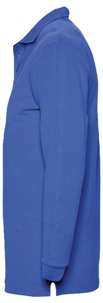 Рубашка поло мужская с длинным рукавом WINTER II 210 ярко-синяя, размер XL