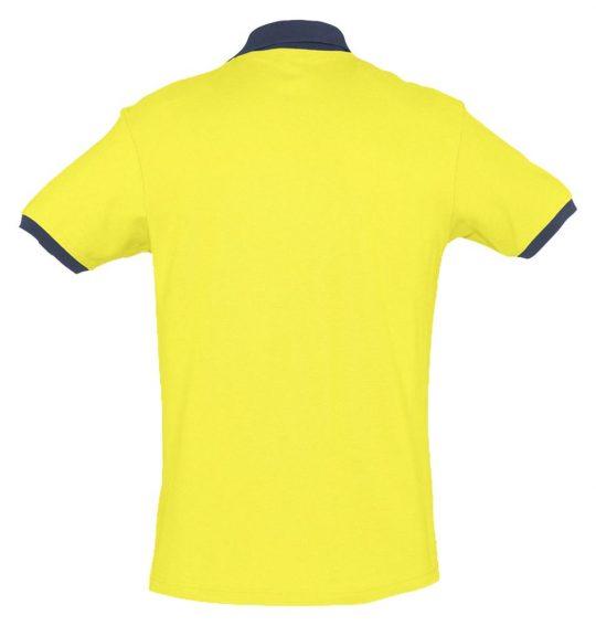 Рубашка поло Prince 190, лимонная с темно-синим, размер L