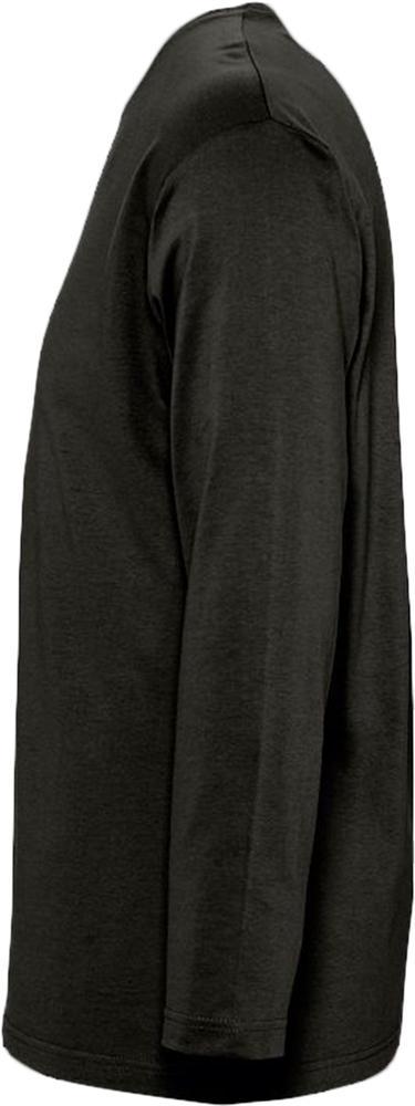 Футболка мужская с длинным рукавом MONARCH 150 черная, размер 3XL