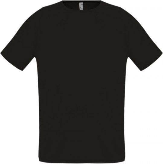 Футболка унисекс SPORTY 140 черная, размер XS