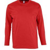 Футболка мужская с длинным рукавом MONARCH 150 красная, размер 3XL
