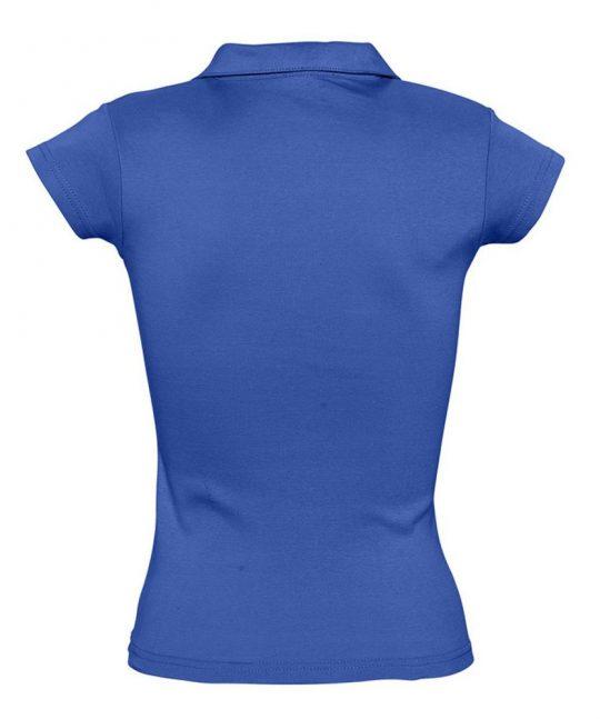 Рубашка поло женская без пуговиц PRETTY 220 ярко-синяя (royal), размер M
