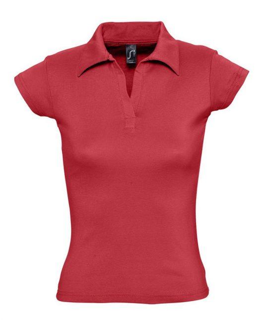 Рубашка поло женская без пуговиц PRETTY 220 красная, размер XL