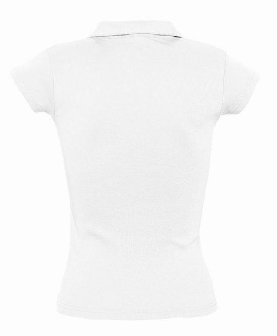 Рубашка поло женская без пуговиц PRETTY 220 белая, размер M
