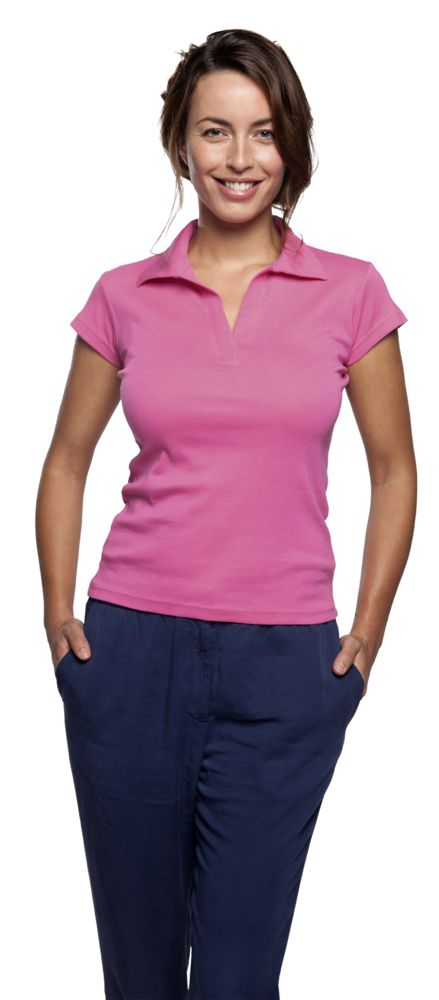 Рубашка поло женская без пуговиц PRETTY 220 белая, размер L