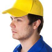 Бейсболка Unit Standard, желтая