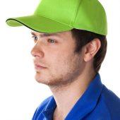 Бейсболка Unit Classic, зеленое яблоко с черным кантом
