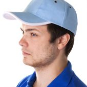 Бейсболка Unit Trendy, голубая с белым