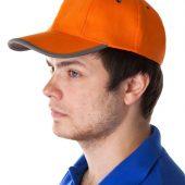 Бейсболка Unit Trendy, оранжевая с серым