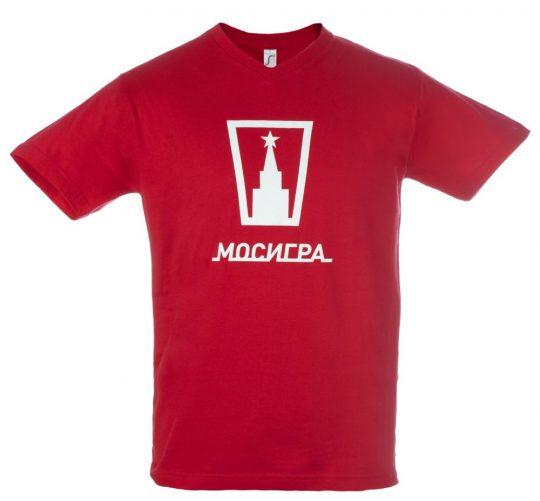 Футболка мужская с V-обр. вырезом VICTORY 150 красная, размер L