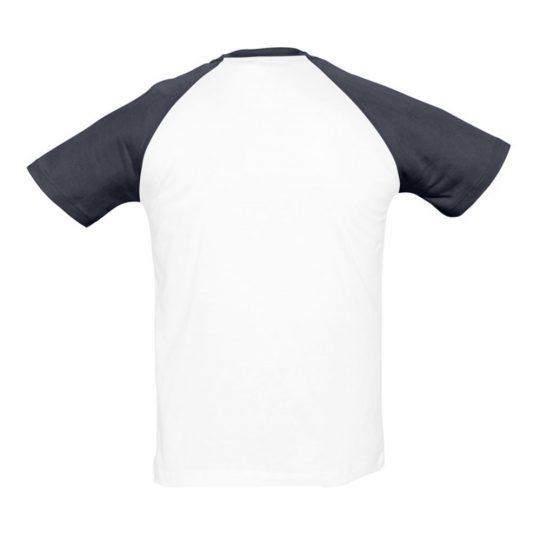 Футболка мужская двухцветная FUNKY 150, белый/темно-синий, размер S